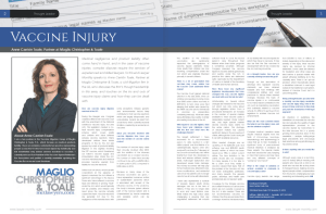 Anne Toale Vaccine Injury Lawyer of the Year Article