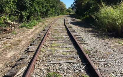 Railroad tracks no longer in use in Sarasota, Florida