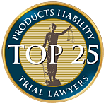 Top 25 Products liability trial lawyers award logo