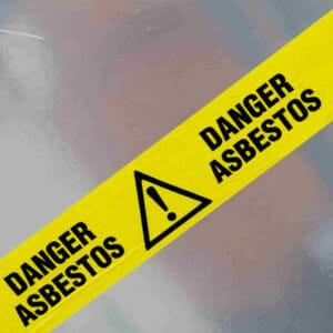Danger Asbestos Yellow Tape Warning