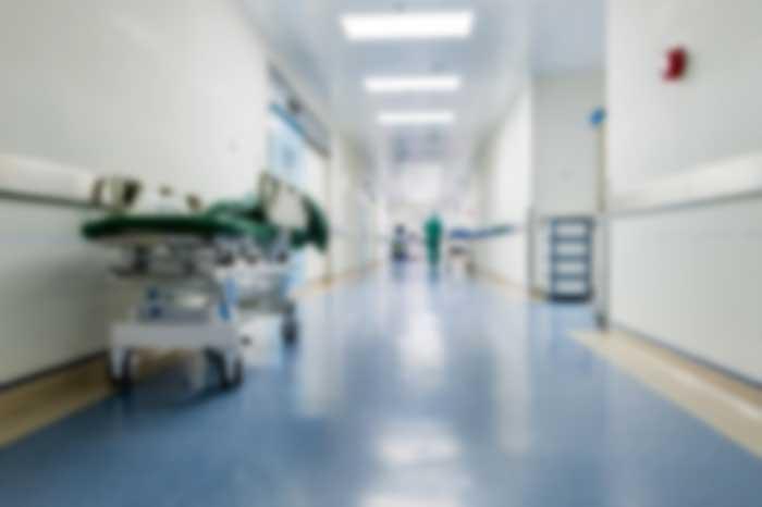 Hospital hallway blurred